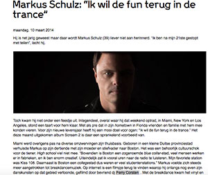 markus schultz marcelineke - DJ Markus Schulz wil de fun terug in de trance