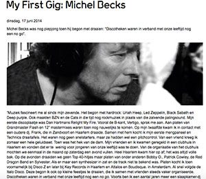 my first gig michel becks marcelineke 300x260 - Michel Becks (NL)