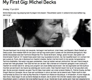 my first gig michel becks marcelineke - Michel Becks (NL)