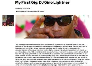 my first gig dj Gino Lightner marcelineke - My First Gig DJ Gino Lightner