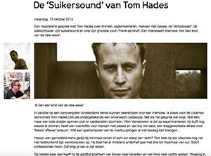 my first gig tom hades marcelineke 300x221 - De 'Suikersound' van Tom Hades