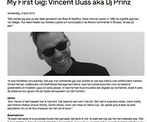 First Gig Vincent Buss Marcelineke 300x249 - Prinz aka Vincent Buss (BE)