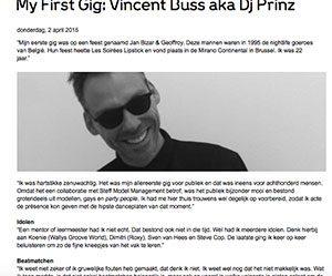First Gig Vincent Buss Marcelineke 300x249 - Prinz aka Vincent Buss (BE)
