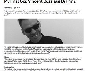 First Gig Vincent Buss Marcelineke - Prinz aka Vincent Buss (BE)