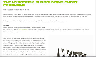 Blog hypocrisy surrounding ghost producing - Blog: the hypocrisy surrounding ghost producing