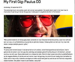 My First Gig dj Paulus DB Marcelineke - Paulus DB (NL)