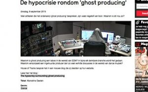 hypocrisie rondom ghost producing marcelineke 300x186 - Blog House of Tracks