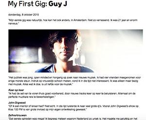 My First Gig dj Guy J marcelineke - Guy J (FR)