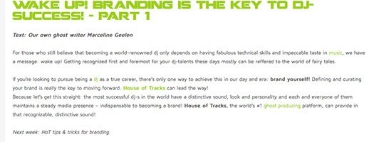 blog house of tracks branding 1 - Branding is the key to DJ-success! - part 1