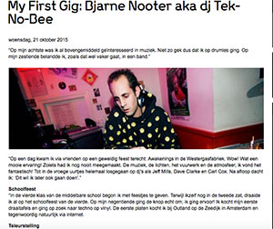 my first gig Tek No Bee - Tek-No-Bee (NL)