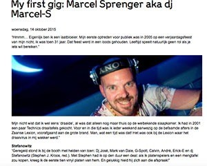my first gig dj marcel sprenger - Marcel Sprenger (NL)