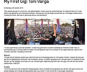 my first gig toni varga - My First Gig DJ Toni Varga