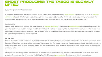 blog ghost producing taboo lifted marcelineke - Ghost producing: the taboo is slowly lifted