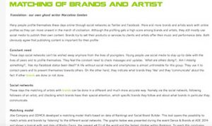 matching brand and artist marcelineke 300x178 - HoT-blog: Matching of brands and artist