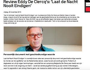 review boek Eddy De Clercq - Eddy De Clercq: Laat de Nacht Nooit Eindigen