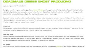 Blog House of Tracks Deadmau5 marcelineke 300x169 - Deadmau5 disses ghost producing