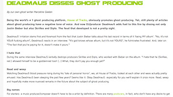 Blog House of Tracks Deadmau5 marcelineke - Deadmau5 disses ghost producing