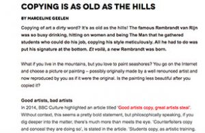blog zart marcelineke 300x195 - Zart blog: Copying is al Old as the Hills