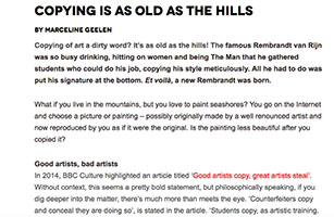 blog zart marcelineke - Zart blog: Copying is al Old as the Hills