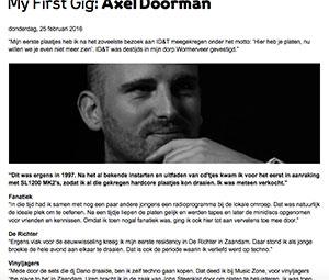 my first gig Axel Doorman marcelineke - My First Gig Axel Doorman