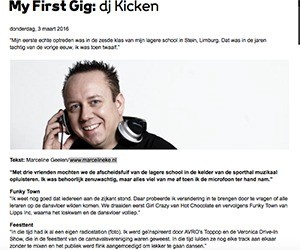 "dj kicken djmag marcelineke - DJ Kicken (NL): ""Tracks were connected through talking"""
