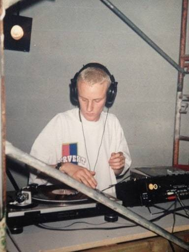 My First gig DJ Rennie Foster as a kid marcelineke