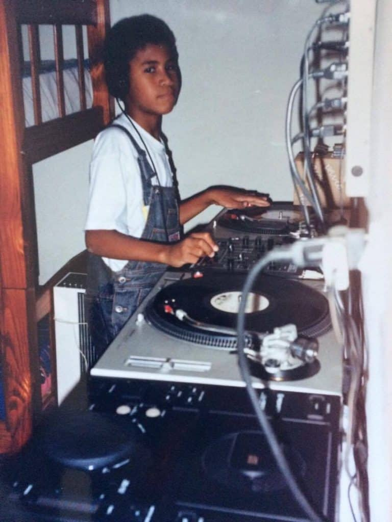 Afrozoid's Rafael as a kid behind the wheels of steel