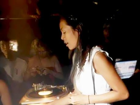 DJ Nakadia at one of her first gigs
