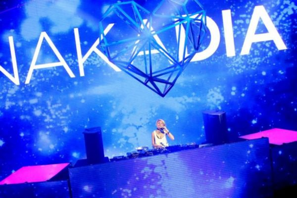 DJ Nakadia on a huge stage