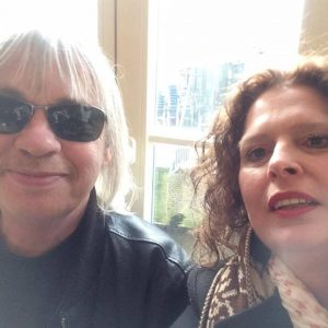 Marcy with Gert van Veen aka Quazar at the Mary Go Wild store in Amsterdam