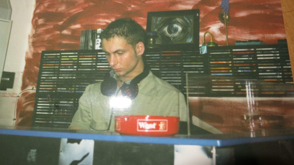 Mark Reeve at his first DJ gig