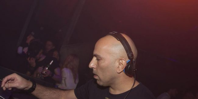 Ziv Avriel in the DJ booth