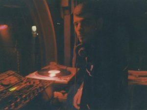 DJ Axel Karakasis at one of his first gigs in Athens