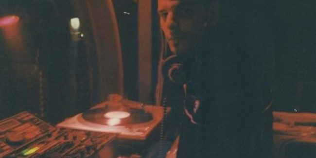 DJ Axel Karakasis at one of his first gigs in Athens